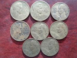 YOUGOSLAVIE 8 MONNAIES DE 20 ET 10 DINARA 1955 - Joegoslavië