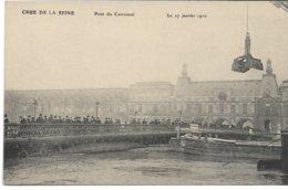 CPA PARIS  Crue De La Seine Pont Du Carroussel  Le 27 Janvier 1910   édit ELD - Inondations De 1910