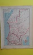 CARTE Du SÉNÉGAL Et De La MAURITANIE Plan De Dakar1930 - Carte Geographique