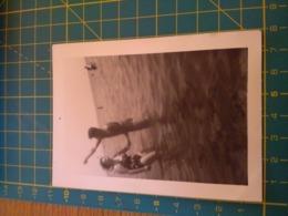 149791  VECCHIA FOTOGRAFIA Vita Da Spiaggia In Spiaggia Mare - Barche