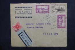 ALGÉRIE - Enveloppe Commerciale De Alger Pour Paris Par Avion, Affranchissement Plaisant - L 46536 - Briefe U. Dokumente