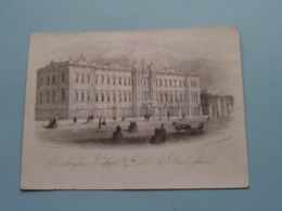 BUCKINGHAM PALACE (Clarke 252 Strand / Ellis Sc.) > ( Porcelein / Porcelaine ) Formaat +/- 15,5 X 11,5 Cm.! - Estampes & Gravures