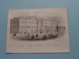 BUCKINGHAM PALACE (Clarke 252 Strand / Ellis Sc.) > ( Porcelein / Porcelaine ) Formaat +/- 15,5 X 11,5 Cm.! - Prenten & Gravure