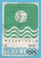 ETIQUETTE DE BOITE D'ALLUMETTES - JEUX OLYMPIQUES MEXICO 1968 WATER POLO - Zündholzschachteletiketten