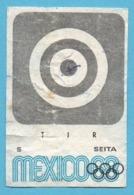 ETIQUETTE DE BOITE D'ALLUMETTES - JEUX OLYMPIQUES MEXICO 1968 TIR - Zündholzschachteletiketten