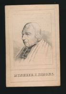 VICARIS GENERAEL BRUGGE - JOANNES SIMONS - TIELT 1774 - BRUGGE 1853  2 AFBEELDINGEN - Décès