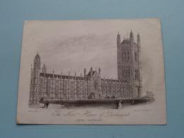 The NEW HOUSES Of PARLIAMENT Lords Entrance ( Ellis / Clarke ) > ( Porcelein / Porcelaine ) Formaat +/- 15,5 X 11,5 Cm.! - Estampes & Gravures