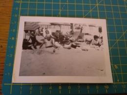 149802  VECCHIA FOTOGRAFIA Vita Da Spiaggia In Spiaggia Sabbiatura - Barche