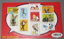 Blok 201** Bloc Tintin En Belgique, Pays De La BD** Kuifje In België, Stripland Met 4258/67** This Is Belgium XX - Blocks & Sheetlets 1962-....
