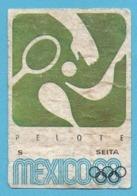 ETIQUETTE DE BOITE D'ALLUMETTES - JEUX OLYMPIQUES MEXICO 1968 PELOTE - Zündholzschachteletiketten