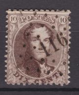 N° 14 A  :  116 ESNEUX COBA + 15.00 - 1863-1864 Medallones (13/16)