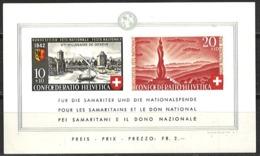 Schweiz Switzerland 1942. Mi Block 7 Postfrisch ** - Blocks & Sheetlets & Panes