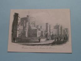 WINDSOR CASTLE, Le Chateau De Windsor ( J T Wood / 224 ) > ( Porcelein / Porcelaine ) Formaat +/- 15,5 X 11,5 Cm.! - Estampes & Gravures