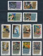 France - Cubisme YT A699-A710 Obl. Ondulations - Adhésifs (autocollants)
