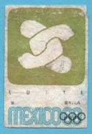 ETIQUETTE DE BOITE D'ALLUMETTES - JEUX OLYMPIQUES MEXICO 1968 LUTTE - Boites D'allumettes - Etiquettes
