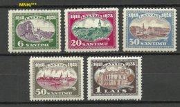 LETTLAND Latvia 1928 = 5 Werte V. Satz Michel 132 - 137 MNH/MH - Lettland