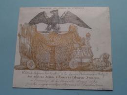 TRANSLATION DES CENDRES DE L'EMPEREUR > 1849 ( Lith. Vanderhaeghe ) ( Porcelein / Porcelaine ) Formaat +/- 15 X 13 Cm.! - Estampes & Gravures