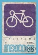 ETIQUETTE DE BOITE D'ALLUMETTES - JEUX OLYMPIQUES MEXICO 1968 CYCLISME - Boites D'allumettes - Etiquettes
