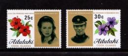 AITUTAKI    1973    Royal  Wedding    Set  Of  2    MNH - Aitutaki