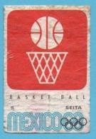 ETIQUETTE DE BOITE D'ALLUMETTES - JEUX OLYMPIQUES MEXICO 1968 BASKET BALL - Boites D'allumettes - Etiquettes