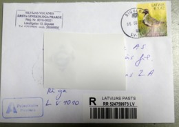 Latvia.2015 Latvian Bird - European Golden Plover  STAMP REGISTERED LETTER LOCAL SIGULDA - Lettonie