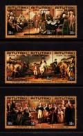 AITUTAKI    1976    Bicentenary  Of  American  Revolution    3  Strips  Of  3    MNH - Aitutaki