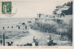 VILLERVILLE-sur-MER. - Vue Générale De La Plage - Villerville