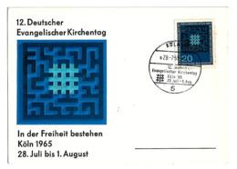 Maximum Card - Germany - Köln - 1965 - Deutscher Evangelischer Kirchentag - [7] República Federal