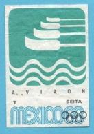 ETIQUETTE DE BOITE D'ALLUMETTES - JEUX OLYMPIQUES MEXICO AVIRON - Matchbox Labels