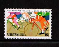 AITUTAKI    1976    Olympic  Games    15c  Cycling    MNH - Aitutaki