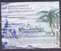 POLYNESIE 2019 EMISSION COMMUNE  AVEC S.PM.MNH ** - Unused Stamps