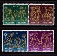 AITUTAKI    1976    Christmas    Set  Of  8    MNH - Aitutaki