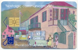 NETHERLANDS ANTILLES SAINT-MARTEN SINT MAARTEN TEL-EM 120 UNITS CHIP PHONECARD TELECARTE ART PAINTING - Antille (Olandesi)