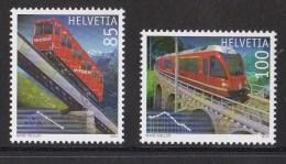 "Suisse N °2077 - 2078** Neuf Sans Charniere ""chemin De Fer"" - Switzerland"