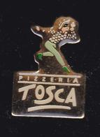 60305-Pin's -Pizzeria Tosca.Arlequin.. - Levensmiddelen