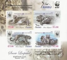 """Kyrgyzstan. WWF. Snow Leopard. 2013. """"NABU"""", IMPERFORATED Block - W.W.F."""