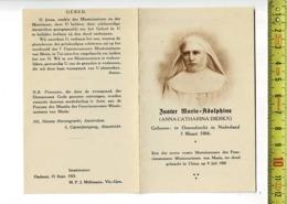Kl 10494 - ZUSTER MARIE ADOLPHINE ( ANNA CATHARINA DIERKX ) OSSENDRECHT 1866 + TER DOOD GEBRACHT IN CHINA 1900 - Images Religieuses
