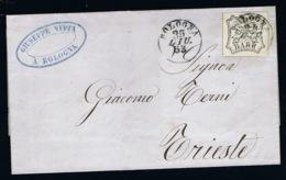 Italy Papel States: Cover Sa 9 Bologna 1853 - Kerkelijke Staten