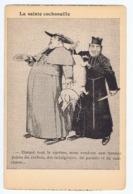 Caricature Anticléricale, La Sainte Cochonnaille , Collection Du Journal Les Corbeaux - Satirical