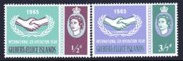Gilbert & Ellice Islands 1965 ICY International Co-operation Year Set Of 2, MNH, SG 104/5 (BP2) - Isole Gilbert Ed Ellice (...-1979)