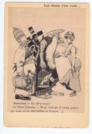Caricature Anticléricale,Les Dieux S'en Vont , Collection Du Journal Les Corbeaux - Satira