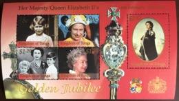 Tonga 2002 Golden Jubilee Minisheet MNH - Tonga (1970-...)
