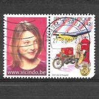 COB 3000 Avec Vignette - Belgica - Le Facteur Au 20eme Siècle - 2001 - Bélgica