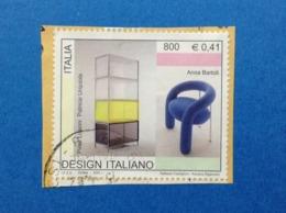 2001 ITALIA FRANCOBOLLO USATO STAMP USED LISSONI URQUIOLA BARTOLI DESIGN ITALIANO - 6. 1946-.. Repubblica