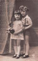 Carte CPA Fantaisie - Petit Garçon Et Petite Fille Fillette Circa 1920 - Abbildungen