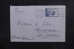 BELGIQUE - Enveloppe De Liège Pour La France En 1935, Vignette Au Verso - L 46566 - Cartas