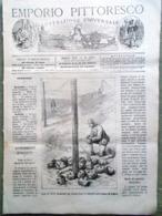 Emporio Pittoresco Del 11 Novembre 1877 Turchi Plevna Caccia Al Caribù Lafayette - Voor 1900