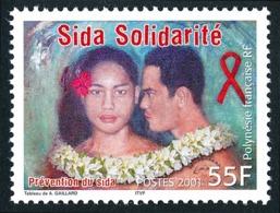 POLYNESIE 2001 - Yv. 650 **   Faciale= 0,46 EUR - Prévention Du Sida  ..Réf.POL24745 - Französisch-Polynesien