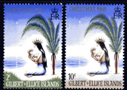 Gilbert & Ellice Islands 1969 Christmas Set Of 2, MNH, SG 157/8 (BP2) - Îles Gilbert Et Ellice (...-1979)