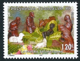 POLYNESIE 2001 - Yv. 655 **   Faciale= 1,01 EUR - Crèche Polynésienne  ..Réf.POL24748 - Französisch-Polynesien